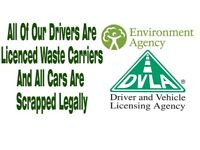 SCRAP CARS WANTED FOR CASH PAID IN HAND SAME DAY COLLECTION TOP RATES PAID TEL 01213274134