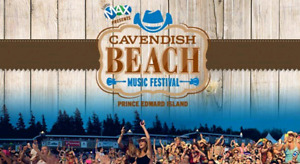 Two 3-day passes to Cavendish Beach Music Festival July 6-July8