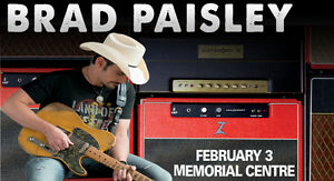 BRAD PAISLEY PIT TICKET FOR PETERBOROUGH