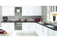 Stylish, Sleek Modern Style White Gloss Kitchen Only £895