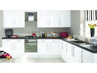 WHITE GLOSS KITCHEN FOR SALE WITH GRANITE WORKTOPS ONLY £1595
