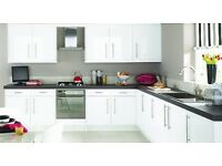 Brand New White High Gloss Kitchen For Sale including appliances