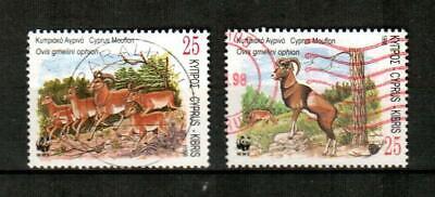 CYPRUS Scott's 921, 923 ( 2v ) World Wildlife Fund F/VF Used ( 1998 )