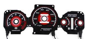 Type R Red Glow 96-00 Honda Civic EK Lx / Ex Auto Gauge Face Overlay