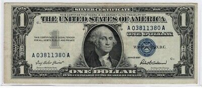 1957 $1 One Dollar Silver Certificate Crisp Extra Fine Blue -
