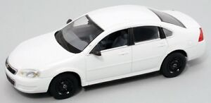 First Response 1/43 Blank White Chevy Impala Police Car  - GR8 4 Customs