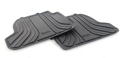 BMW Genuine All Weather Rubber Floor Mats Set Rear F21F22 51472297420
