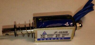 Baomain Solenoid Electromagnet Jf-0530b Dc 24v 300ma 10mm 1.5kg 3.3lb Tubular