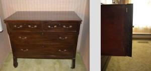 """Antique / Vintage wooden dresser 35"""" tall, 42"""" W and 23.5"""" $100"""