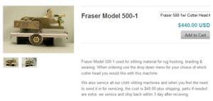 Coupe tissus Fraser Model 500-1