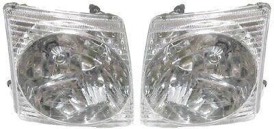Headlight Headlamp Assembly Pair Set Both Driver Passenger Side Left+Right LH+RH ()