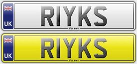 Cherished number plate R1YKS on retention certifcate.
