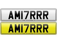 AM17 RRR / AM17RRR- *AMIR* *17 PLATE* *2017* Cherished Private Number Plate