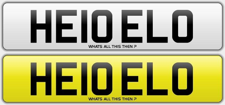 POLICE related NUMBER PLATES