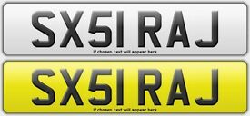 Private Asian Number Plate SEXY RAJ