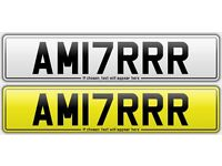 AM17 RRR - *AMIR* *17 PLATE* Cherished Private Number Plate