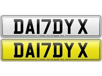 DA17DY X - *DADDY X* *17 PLATE* Cherished Private Number Plate