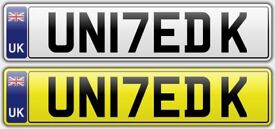 Personalised Cherished Number Plate - UN17EDK