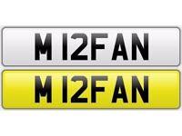 M IRFAN NUMBER PLATE FOR SALE! (M12FAN)