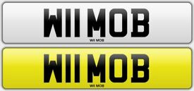 CHERISHED PRIVATE NUMBER PLATE REGISTRATION W11 MOB