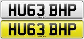 HU63 BHP - HUGE BHP - Cherished Registration Number Plate