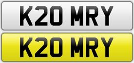 K20 MRY private reg number plate (k20 civic integra type-r ek9 eg ek dc2 dc5 ep3)