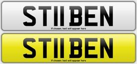 PRIVATE PERSONALISED NUMBER PLATE ST11 BEN