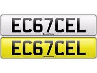 Car registration plate EC67CEL (Celtic related)