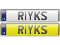 Cherished Number Plate: R1YKS