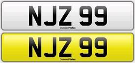 Registration number NJZ 99 (audi, mercedes, bmw, seat, jag car)