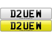 Personalized registration plate D2UEW (DAVE - DAVID)