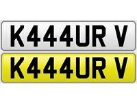 Personalised Number Plate ( K444 URV ) - KAUR