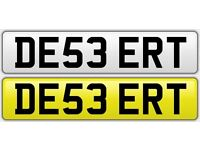 Personalised Number Plate ( DE53 ERT ) - DESSERT