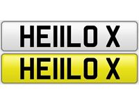 Personalised Number Plate ( HE11 L0X) - HELLO