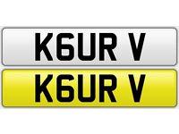 Personalised Number Plate ( K6 URV ) - KAUR