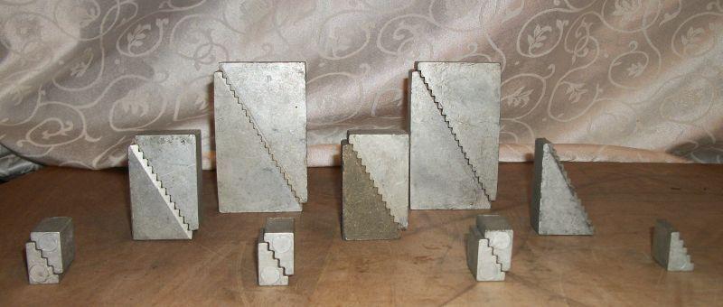 Lot of 16 Aluminum Setup Step Blocks - 3 Sizes