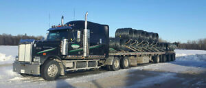 3 identical 2006 Western Star and 3 Flatbed trailer