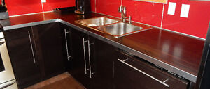 Kitchen countertops with double bowl sink