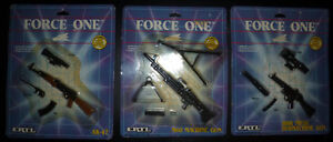 3 ERTL Force One miniature die-cast metal Gun replica toys (NEW)