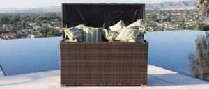 All Weather Crosson Wicker deck Box Neuf New
