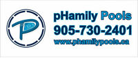 PHamily Pools. Better Service. Better pools.