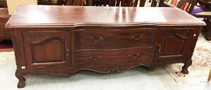 Solid mahogany Victorian tv console