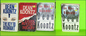 Lot of 4 Dean Koontz  Mystery Paperback Pocket Novels