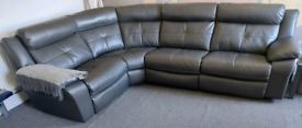 4 seater leather sofa reclining