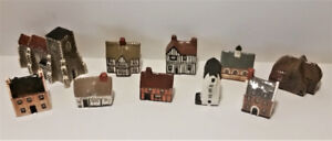 MUDLEN END STUDIO UK - Collection of 10 Early Porcelain Cottages