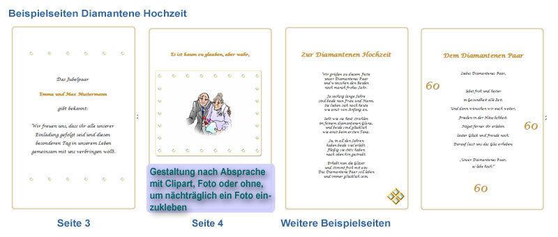 Diamanthochzeit Festzeitung Diamantene Hochzeit # Geschenk Einladung ...