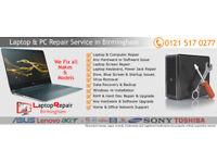 Computer Repair & Laptop Repair Birmingham - Fix Hardware & Software Issues, Laptop Screen Repair