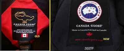 canada goose real vs fake badge