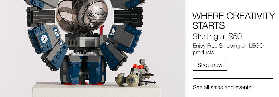 Where Creativity Starts   Lego Starting From $50 with Free Shipping   Shop now