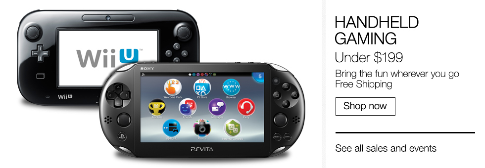 Handheld Gaming | Under $199 | Bring the fun wherever you go | Free Shipping | Shop now